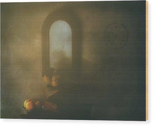 The Living Room Wood Print by Delphine Devos