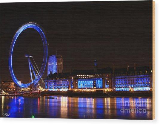 The London Eye  Wood Print by Size X