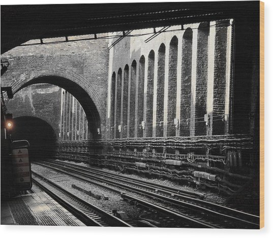 The London Underground  Wood Print