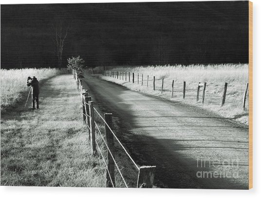 The Lone Photographer Wood Print