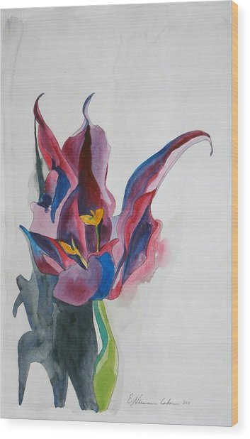 The Lonely Tulip Wood Print