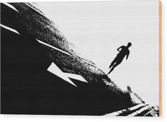 The Long Distance Runner Wood Print