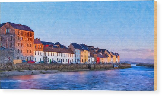 Wood Print featuring the photograph The Long Walk In Galway Ireland by Mark E Tisdale