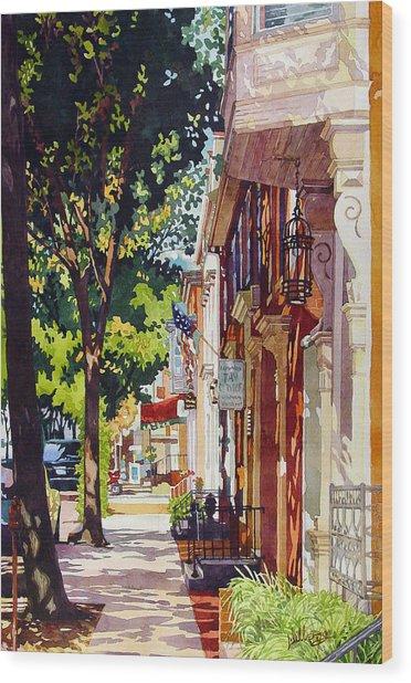 The Long Walk To Market Wood Print
