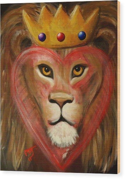 The Lord Of My Heart Wood Print by Pamorama Jones