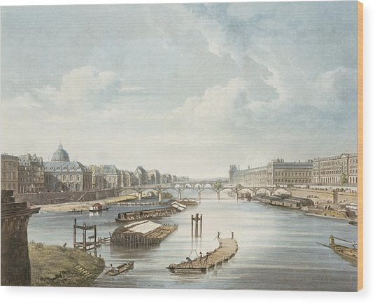 The Louvre, From Views On The Seine Wood Print