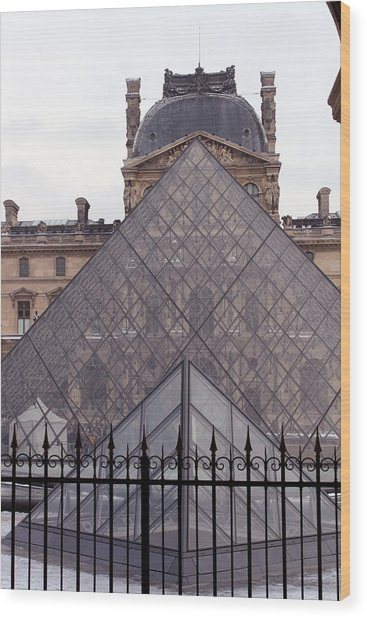 The Louvre Wood Print