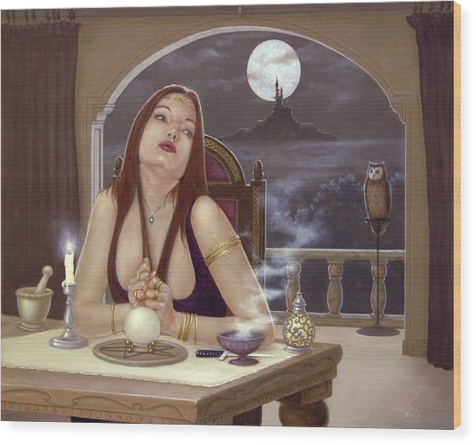 The Love Spell Wood Print by John Silver