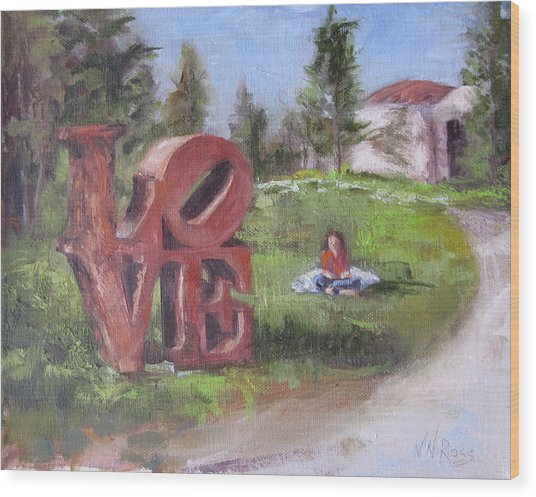 The Love Trail 2 Wood Print