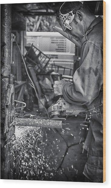 The Machinist Wood Print