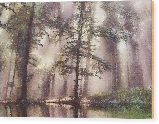The Magic Forest Wood Print by Odon Czintos