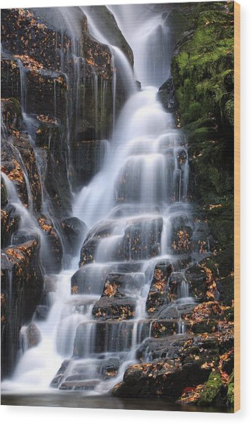 The Magic Of Waterfalls Wood Print