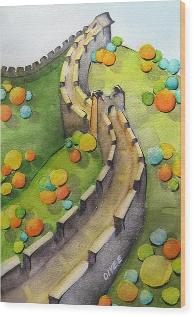 The Magical Great Wall Wood Print