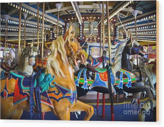 The Magical Machine - Carousel Wood Print