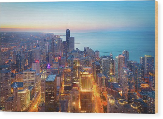 The Magnificent Mile Wood Print