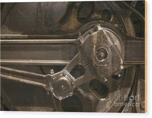The Main Drive Rod Wood Print