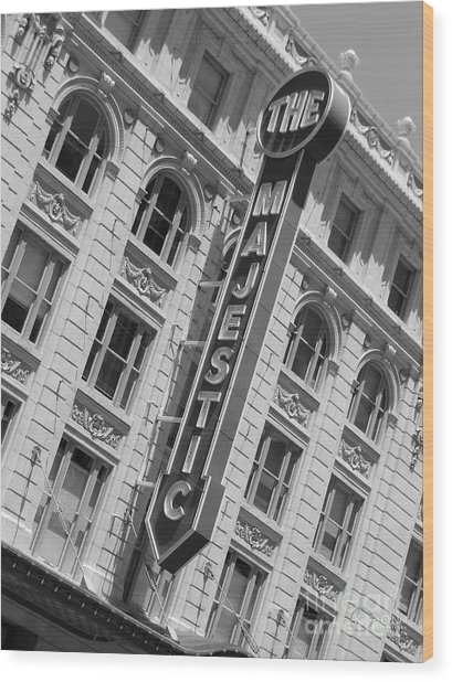 The Majestic Theater Dallas #3 Wood Print