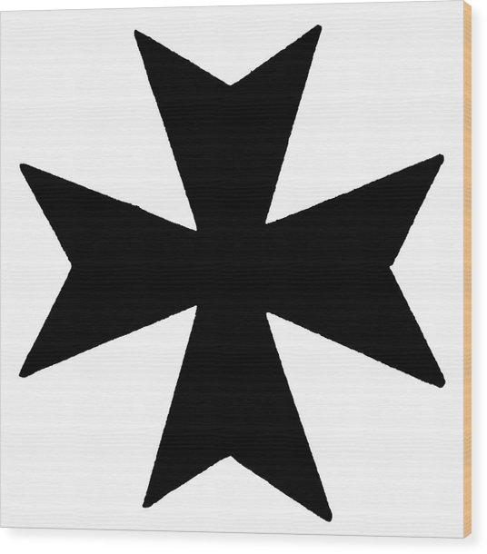 The Maltese Cross Wood Print by Granger