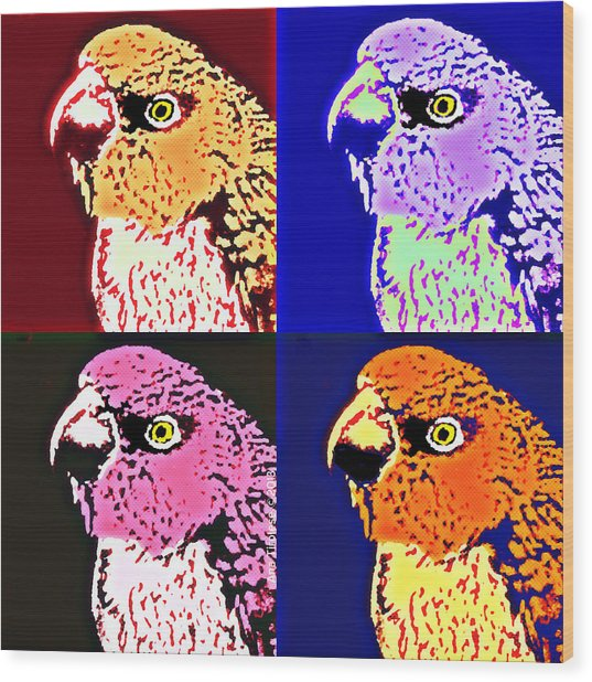 The Many Faces Of Taz Wood Print