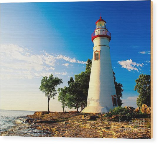 The Marblehead Light Wood Print