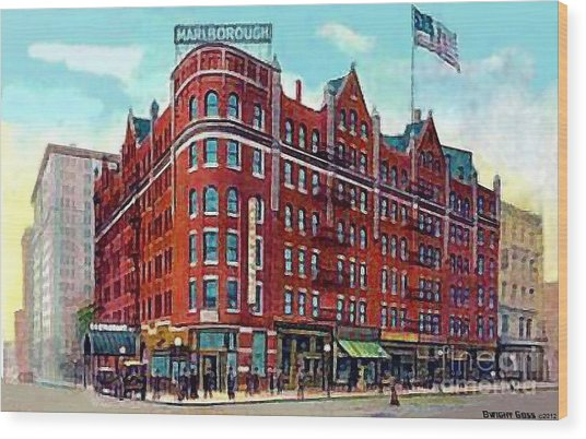 The Marlborough Hotel In New York City In 1909 Wood Print by Dwight Goss