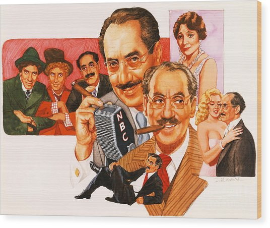 The Marx Brothers Wood Print