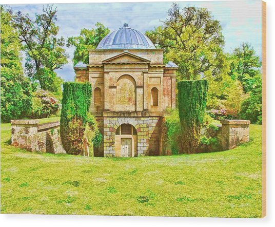 Wood Print featuring the photograph The Mausoleum Bowood -01 by Paul Gulliver