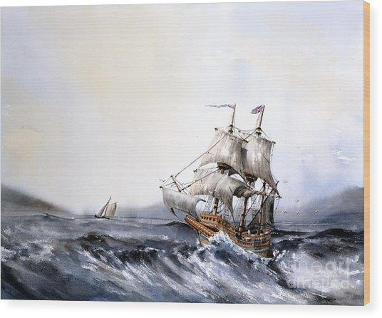 F 822 The Mayflower Wood Print