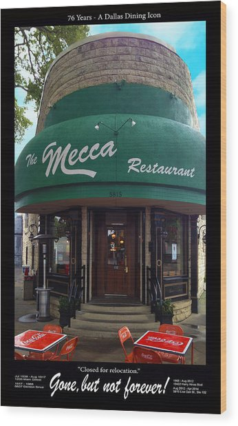 The Mecca Restaurant Wood Print