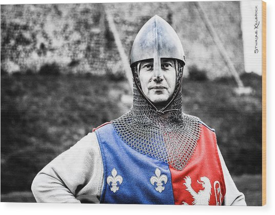 Wood Print featuring the photograph The Medieval Warrior by Stwayne Keubrick