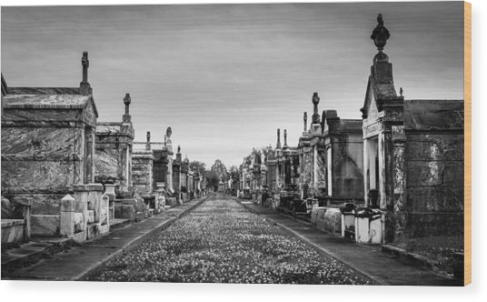 The Metairie Cemetery Wood Print