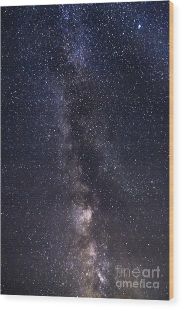 The Milky Way From Phippsburg Maine Usa Wood Print