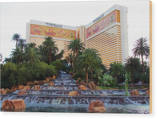 The Mirage Wood Print by Andrea Dale