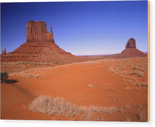 The Mittens Monument Valley Arizona Wood Print