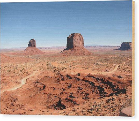 The Mittens Utah Wood Print