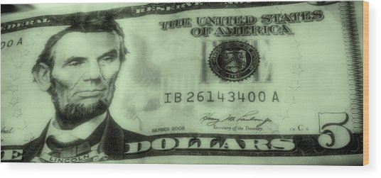 The Money Man Wood Print