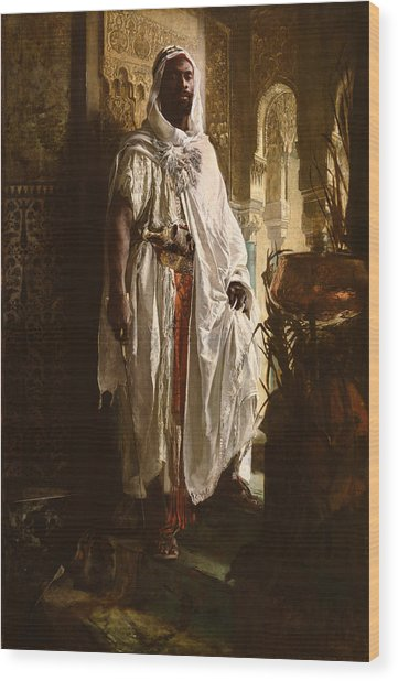 Wood Print featuring the painting The Moorish Chief by Eduard Charlemont