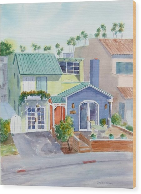 The Most Colorful Home In Belmont Shore Wood Print