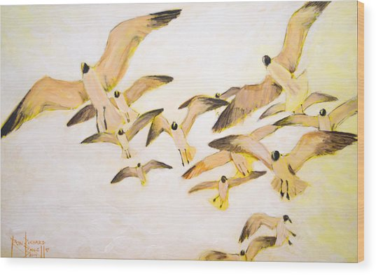 The Most Glorious Birds Wood Print