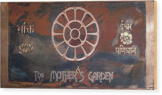 The Mother's Garden Wood Print