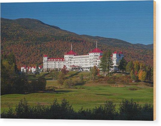 The Mount Washington Hotel In Autumn Wood Print