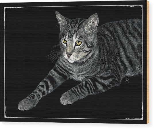 The Mouser Wood Print