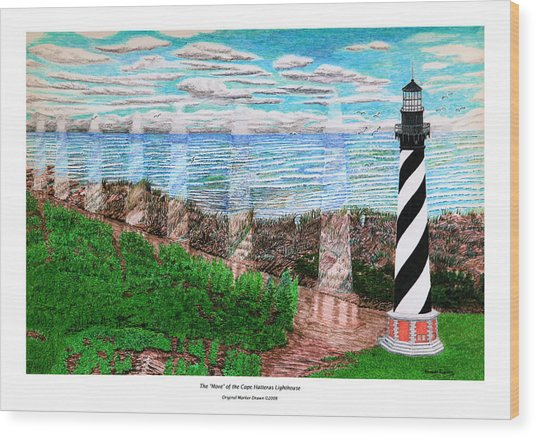 The Move Of The Cape Hatteras Lighthouse Wood Print by Frank Evans