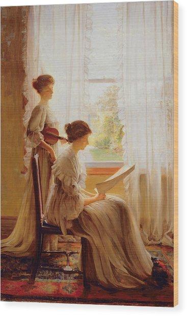 The Music Lesson, C.1890 Wood Print