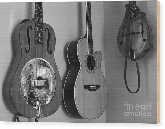 Wood Print featuring the photograph The Music Room by Laura  Wong-Rose