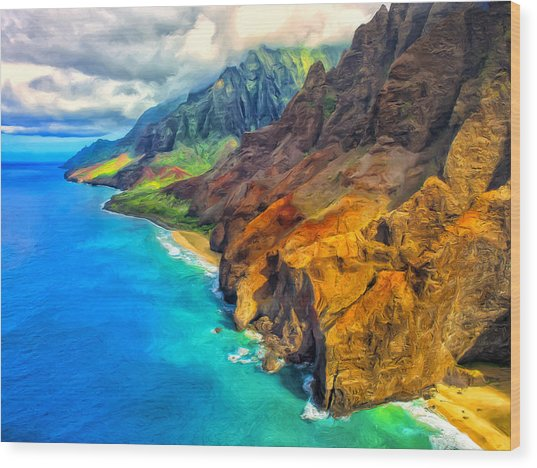 The Na Pali Coast Of Kauai Wood Print