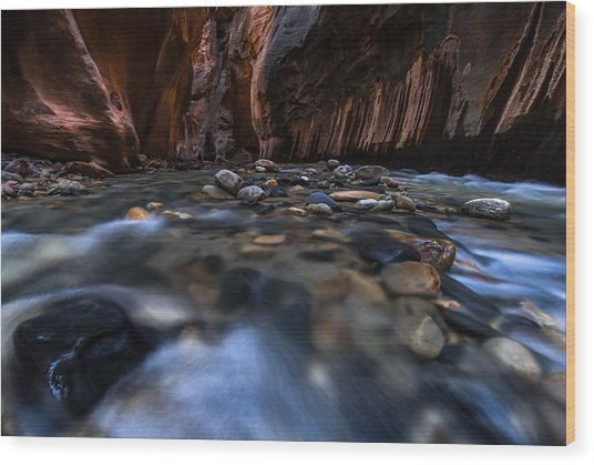The Narrows At Zion National Park - 1 Wood Print