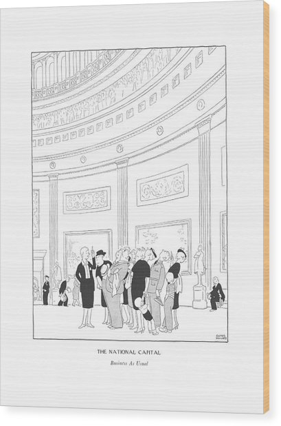 The National Capital  Business As Usual Wood Print