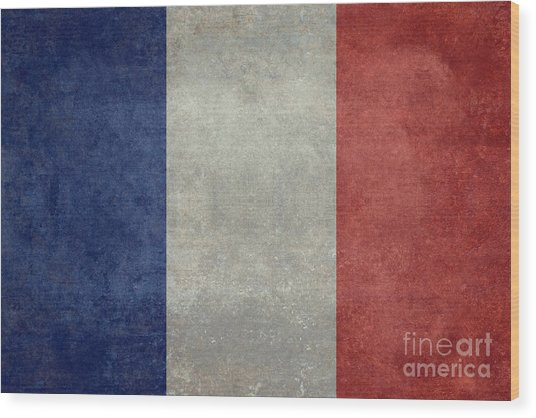 The National Flag Of France Wood Print