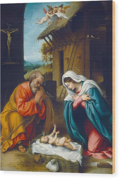 The Nativity 1523 Wood Print